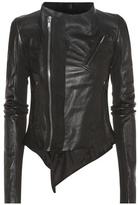 Rick Owens Low Neck Biker leather jacket