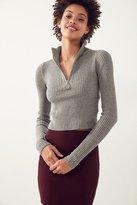 Silence & Noise Silence + Noise Christy Turtleneck Half-Zip Sweater