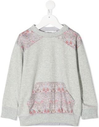 Bonpoint Paisley-Panel Sweatshirt