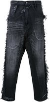 Miharayasuhiro raw edge wide jeans