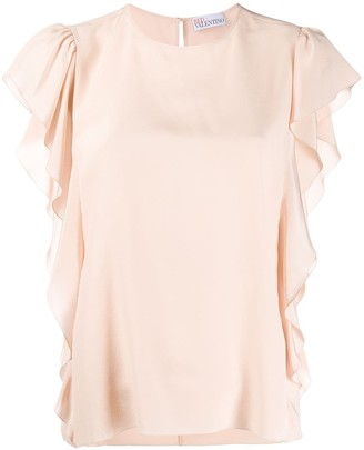 RED Valentino Ruffle-Trimmed Blouse