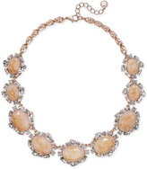 Charter Club Rose Gold-Tone Crystal Pink Stone Necklace, Only at Macy's
