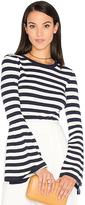 Milly Bell Sleeve Sweater in Navy. - size XS (also in )