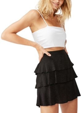 Cotton On Byron Tiered Mini Skirt