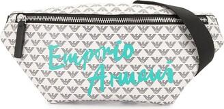 Emporio Armani Kids All Over Logo Belt Bag