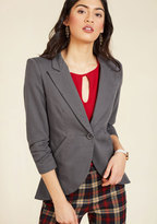 ModCloth Fine and Sandy Blazer in Stone in S