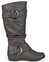 Brinley Co Women's Hilton Slouch Boot, Grey