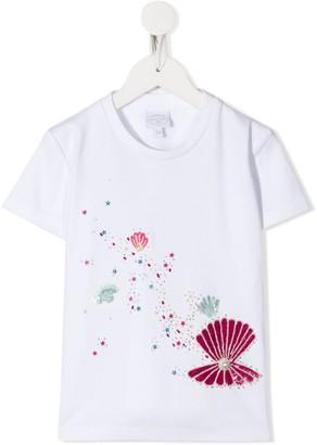 Noon By Noor Mini Pearl sequinned T-shirt
