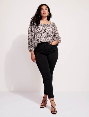 Forever New Bianca Curve High-Rise Ankle Grazer Jeans - Forever Black - 22