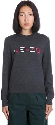 Kenzo Knitwear In Grey Wool