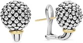 Lagos Sterling Silver Small Caviar Bead Stud Earrings with 18K Gold