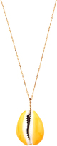 Aurelie Bidermann Merco shell & yellow-gold necklace