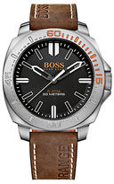 HUGO BOSS Boss Orange Sao Paulo Stainless Steel Brown Leather Strap Watch, 1513294