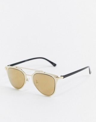 Jeepers Peepers gold frame tinted sunglasses