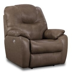 """Thumbnail for your product : Southern Motion Pandora 39"""" Wide Leather Match Power Rocker Standard Recliner"""