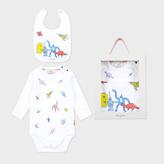 Paul Smith Baby Boys' White Robot And Dinosaur Print Playwear Set