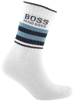 HUGO BOSS Boss Business Logo Sport Socks White