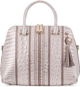 Brahmin Sydney Toasted Macaroon Orleans Medium Satchel