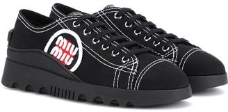Miu Miu Low-top canvas sneakers