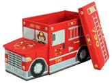 Greenway Collapsible Fire Truck Storage Ottoman