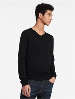 Calvin Klein Cotton Silk V-Neck Sweater
