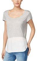Calvin Klein Jeans Women's Short Sleeve Mixed Media Tee