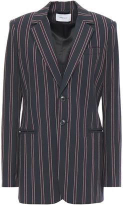 Current/Elliott Striped Cotton-twill Blazer