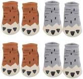 VWU 4 Pairs Baby Thick Cotton Socks Cute Cartoon Anti Slip Socks for Winter