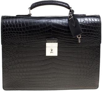 Louis Vuitton Black Crocodile Robusto Briefcase