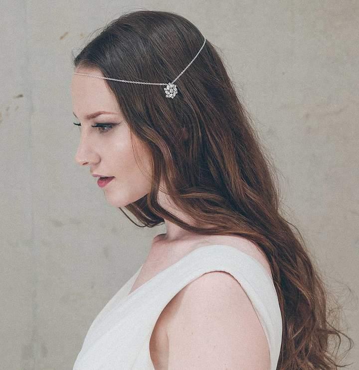 Carlisle Debbie Ophelia Silver Wedding Circlet Forehead Band