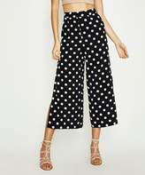 Alice In The Eve Cropped Side Slit Palazzo Pants White