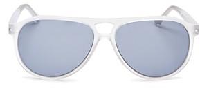 Look Optic Unisex Liam Brow Bar Aviator Sunglasses, 57mm