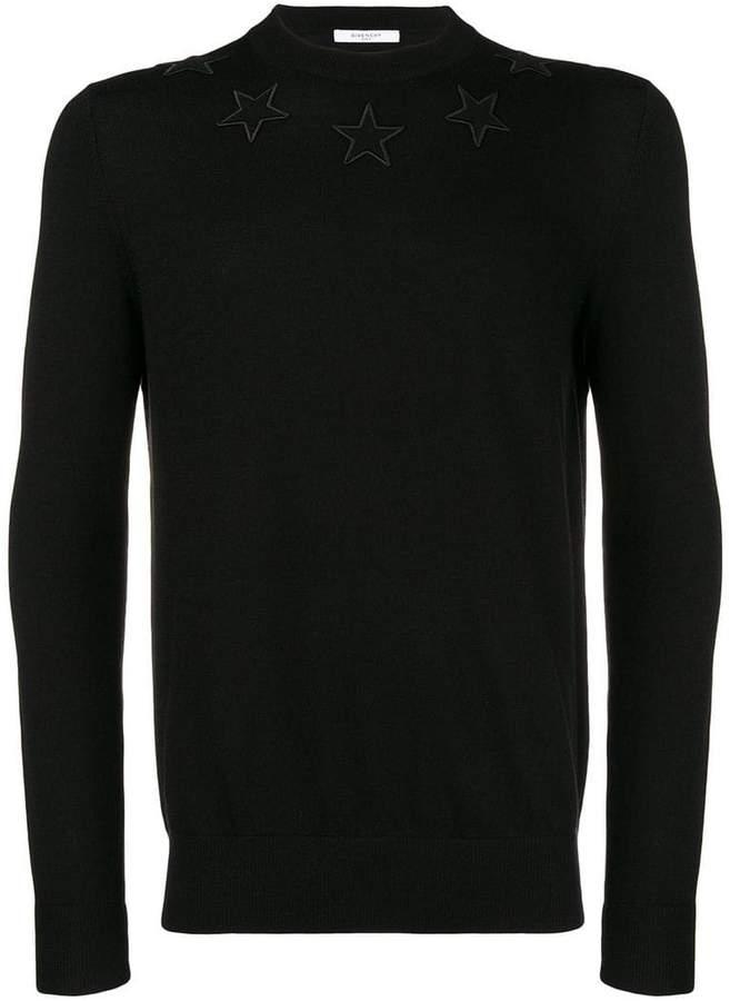 Givenchy star applique sweatshirt