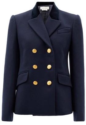 Alexander McQueen Double-breasted Wool-blend Felt Jacket - Navy