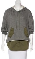 3.1 Phillip Lim Layered Hooded Sweatshirt