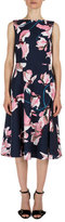 Erdem Maia Lily-Print Sleeveless Dress, Navy/Pink