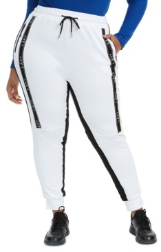 Lala Anthony Trendy Plus Size Dual Side-Stripe Joggers, Created for Macy's