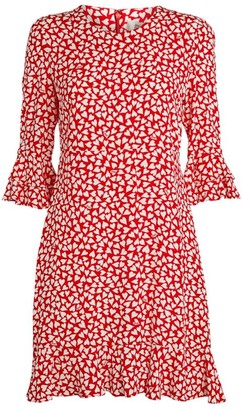 Diane von Furstenberg Heart Print Elly Mini Dress