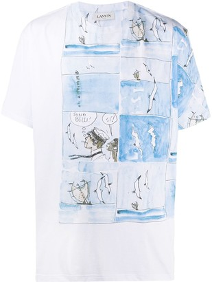 Lanvin comic book print T-shirt