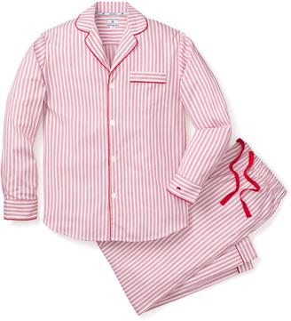 Petite Plume Men's Ticking-Stripe Pajama Set