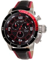 Jet Set J 91101-238 San Remo's Watch Quartz Chronograph Black Dial Black Leather Strap