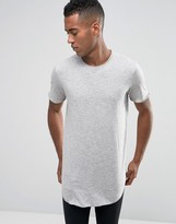 Jack and Jones Longline T-Shirt with Curved Hem