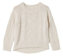 Cotton On Little Girls Annie Cable Knit Jumper Sweater