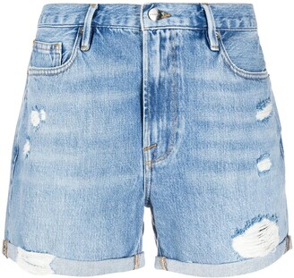 Frame Los Angeles ripped shorts