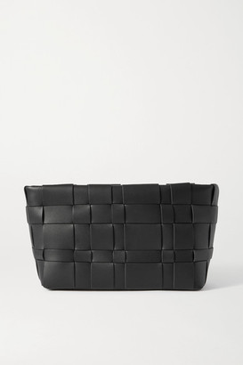 3.1 Phillip Lim Odita Woven Leather Pouch - Black