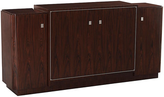 Ralph Lauren Home Duke Low Media Cabinet - Penthouse Rosewood/Silver