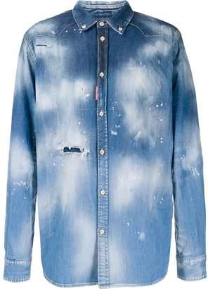 DSQUARED2 faded print shirt