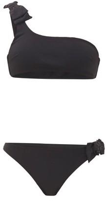 Zimmermann Zinnia Bow One-shoulder Bikini - Black