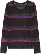 Vanya metallic striped sweater