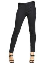 Emporio Armani Slim Fit Pinstripe Jersey Trousers